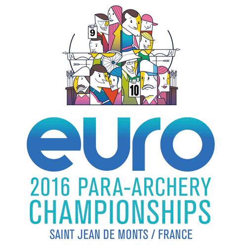 Saint Jean de Monts 2016 European Para Archery Championships + Para CQT logo